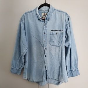 Vintage Harley Davidson Denim Button-up Shirt